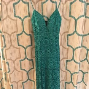 NWT Windsor Lace Maxi with Slit in Jade color